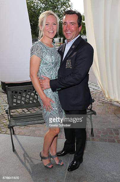 Andrea Muehlbauer formerly Arland and her boyfriend Falk Raudies during the Kaiser Cup 2016 gala on July 16 2016 in Bad Griesbach near Passau Germany
