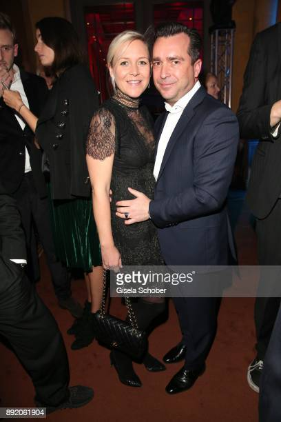 Andrea Muehlbauer formerly Arland and her fiance Falk Raudies during the Audi Generation Award 2017 at Hotel Bayerischer Hof on December 13 2017 in...
