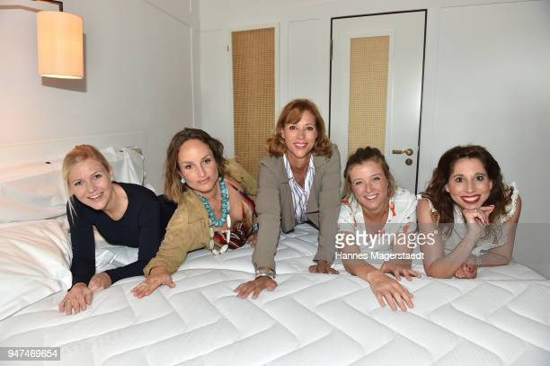 Andrea Muehlbauer LaraJoy Koerner Carin C Tietze Nina Eichinger and Lola Paltinger attend the celebration of the first Weltmatratzenwendetag at Hotel...