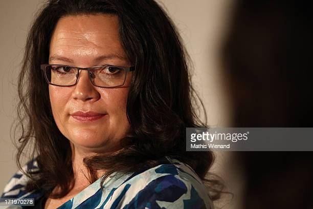 Andrea Nahles attends 'Brigitte Live Frauen waehlen' forum at Guerzenich on June 30 2013 in Cologne Germany