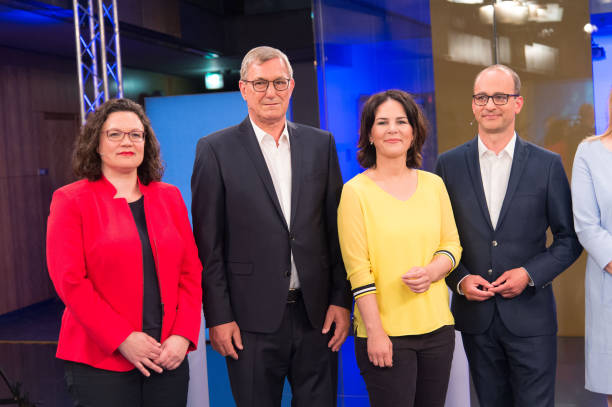 DEU: German Party Heads Debate European Election Issues On ARD Television