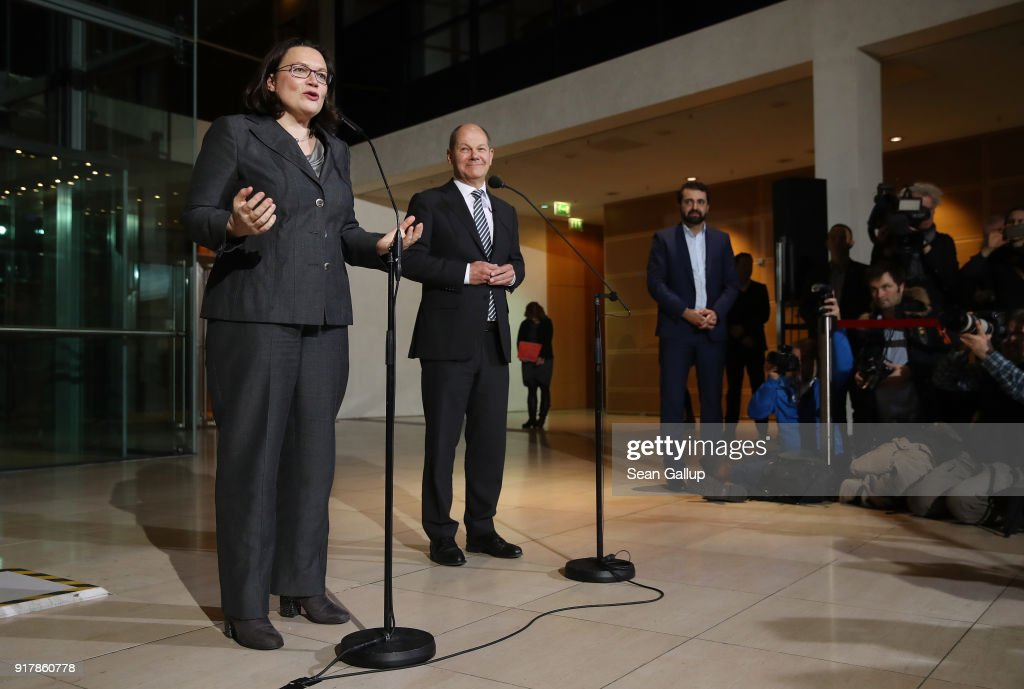 SPD Meets Over Nahles Appointment As New Party Leader