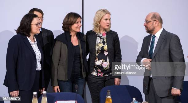 Andrea Nahles , head of the Social Democratic Party parliamentary fraction, Karl Lauterbach , Malu Dreyer , Prime Minister of Rhineland-Palatinate,...