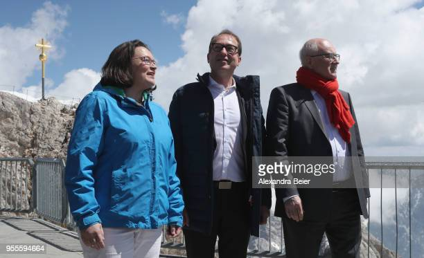 Andrea Nahles leader of the German Social Democrats and of the SPD Bundestag faction and Alexander Dobrindt leader of the Bundestag faction of the...