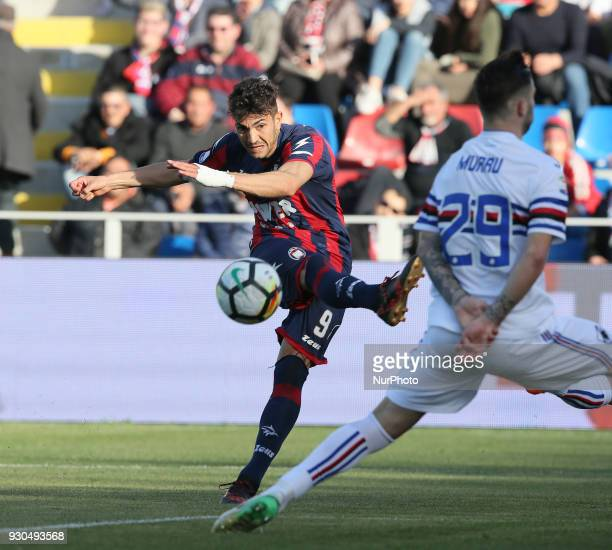 Andrea Nalini of Crotone during the serie A match between FC Crotone and UC Sampdoria at Stadio Comunale Ezio Scida on March 11 2018 in Crotone Italy