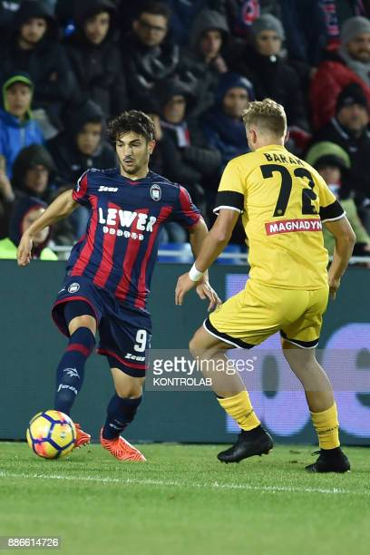 STADIUM CROTONE CALABRIA ITALY Andrea Nalini of Crotone vs Antonin Barak of Udinese during the match of Serie A FC Crotone vs Udinese Udinese wins 30