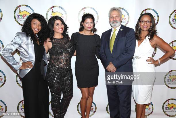 Andrea Navedo and Jonathan Zeichner attend A Place Called Home's 18th Annual Gala For The Children at The Beverly Hilton Hotel on December 05 2018 in...