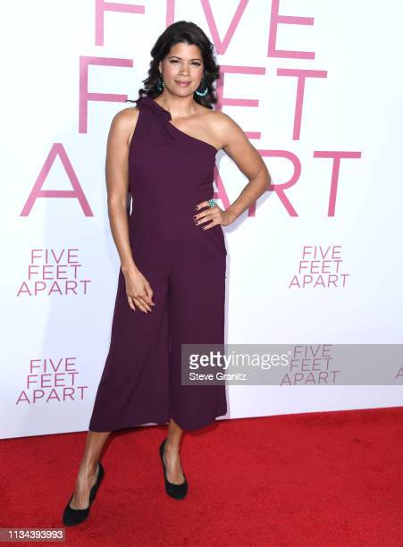 Andrea Navedo arrives at the Premiere of Lionsgate's Five Feet Apart at Fox Bruin Theatre on March 07 2019 in Los Angeles California