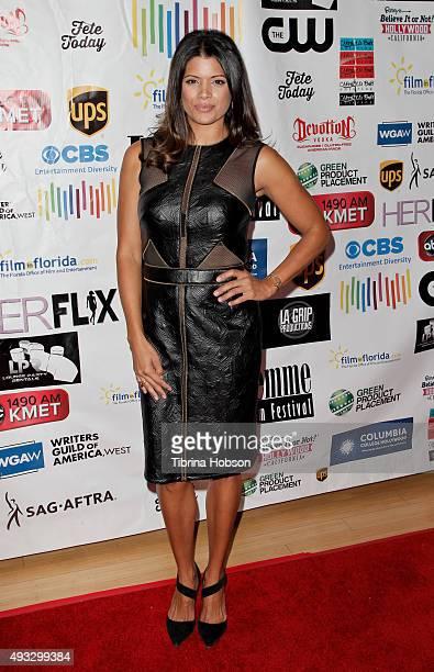 Andrea Navedo attends the 11th annual LA Femme International Film Festival Awards Gala at The Los Angeles Theatre Center on October 18 2015 in Los...