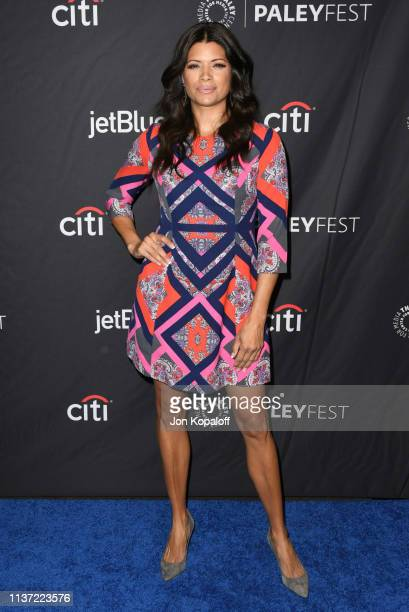 Andrea Navedo attends The Paley Center For Media's 2019 PaleyFest LA Jane The Virgin And Crazy ExGirlfriend The Farewell Seasons at Dolby Theatre on...