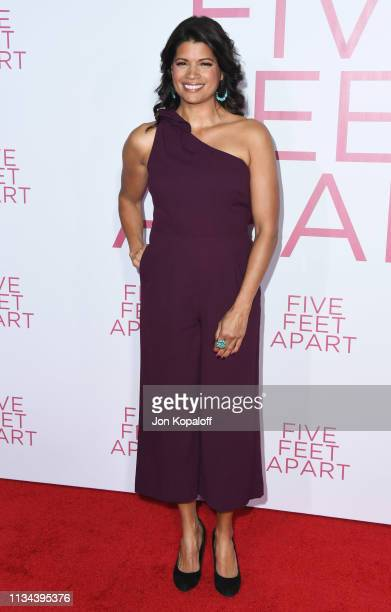 Andrea Navedo attends the premiere of Lionsgate's Five Feet Apart at Fox Bruin Theatre on March 07 2019 in Los Angeles California