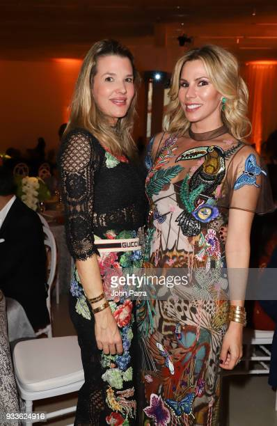 Andrea Noboa and Amanda Church attend PAMM Art Of The Party Presented By Valentino at Perez Art Museum Miami on March 17 2018 in Miami Florida