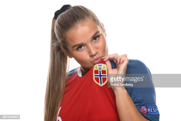 Andrea Norheim of Norway during J19 Photocall at Thon Arena on July 12 2018 in Lillestrom Norway