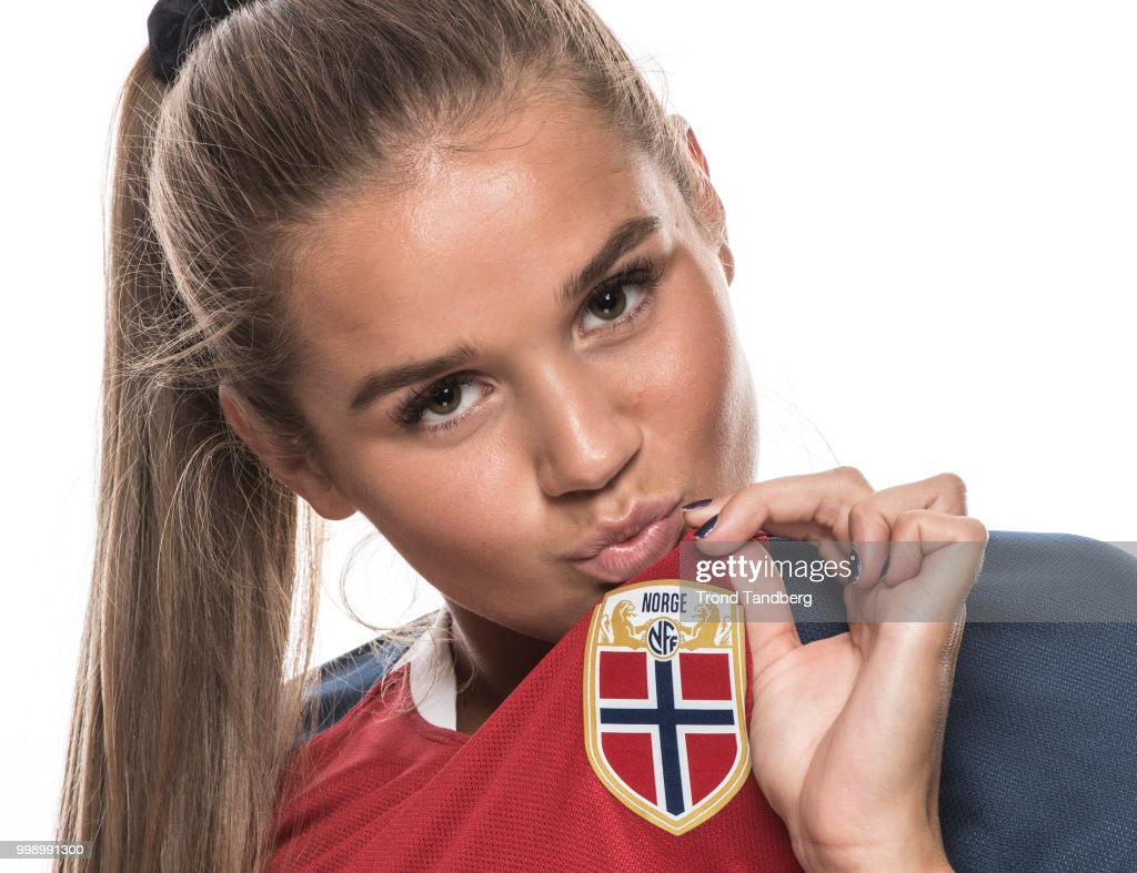 Andrea Norheim of Norway during J19 Photocall at Thon Arena on July 12, 2018 in Lillestrom, Norway.