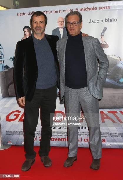 Andrea Occhipinti and Fabrizio Donvito attend 'Gli Sdraiati' photocall on November 20 2017 in Milan Italy