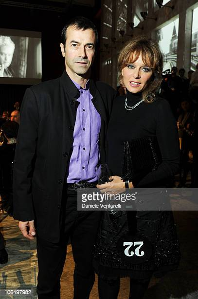 Andrea Occhipinti and Valeria Golino attend The Bulgari Express for Save The Children Dinner and Auction Party at the Salone delle Fontane on...