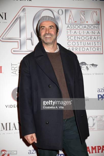 Andrea Occhipinti attends the ASC 40th anniversary party at Palazzo delle Esposizioni on March 2 2018 in Rome Italy