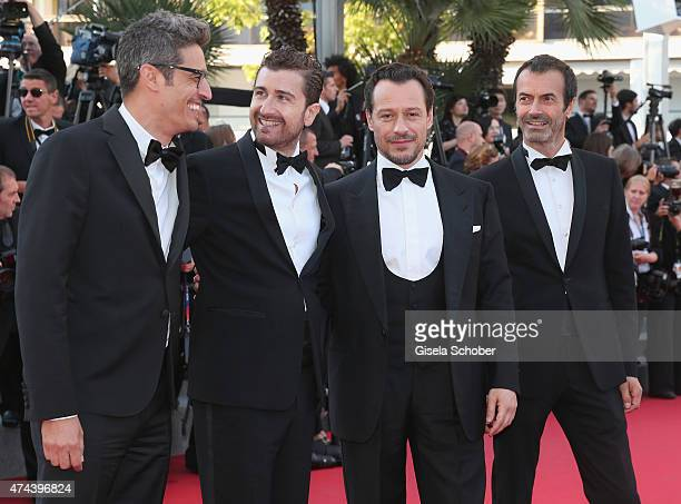 Andrea Occhipinti Stefano Accorsi Alessandro Siani and Pif attend the Premiere of 'The Little Prince' during the 68th annual Cannes Film Festival on...