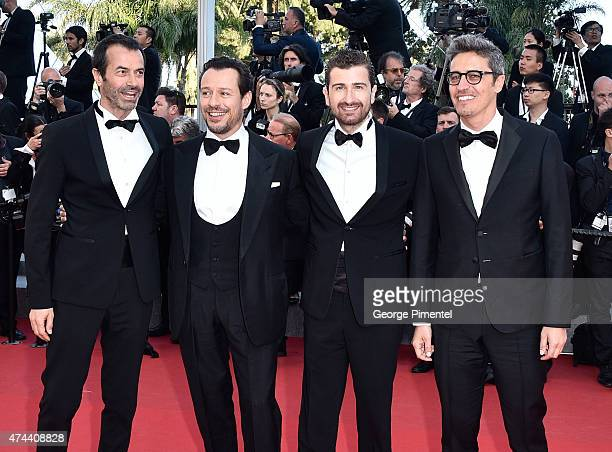 Andrea Occhipinti Stefano Accorsi Alessandro Siani and Pif attends the 'Little Prince' Premiere during the 68th annual Cannes Film Festival on May 22...