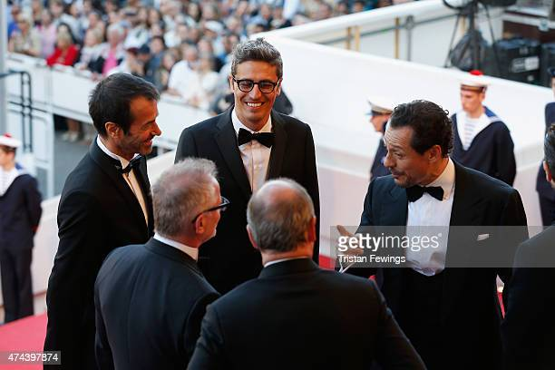 Andrea Occhipinti Thierry Fremaux Pif Pierre Lescure and Stefano Accorsi attend the Premiere of 'The Little Prince' during the 68th annual Cannes...
