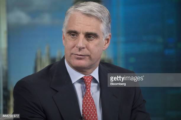 Andrea Orcel investment bank president of UBS Group AG pauses during a Bloomberg Television interview in London UK on Friday Dec 8 2017 Orcel the...