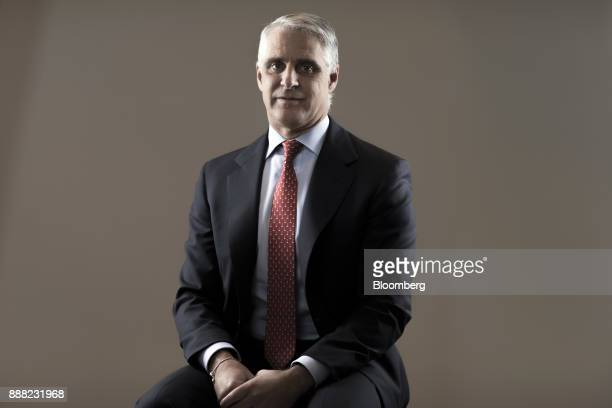Andrea Orcel investment bank president of UBS Group AG poses for a photograph following a Bloomberg Television interview in London UK on Friday Dec 8...