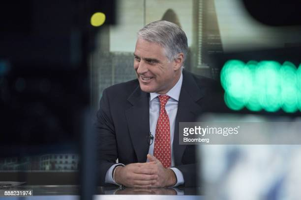 Andrea Orcel investment bank president of UBS Group AG reacts during a Bloomberg Television interview in London UK on Friday Dec 8 2017 Orcel the...