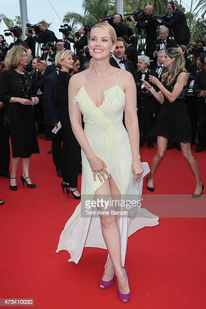 Andrea Osvart attends the 'Mad Max Fury Road' premiere during the 68th annual Cannes Film Festival on May 14 2015 in Cannes France