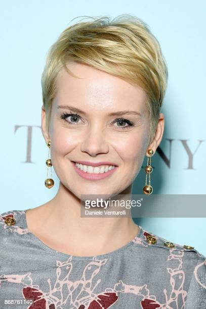 Andrea Osvart attends Tiffany Co Gala Dinner for 'Please Stand By' movie at Hotel Bernini on October 31 2017 in Rome Italy