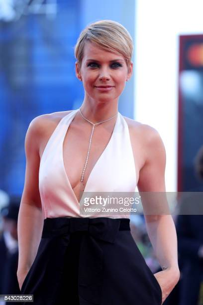 Andrea Osvart walks the red carpet ahead of the 'mother' screening during the 74th Venice Film Festival at Sala Grande on September 5 2017 in Venice...