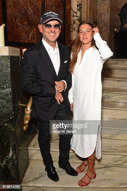 Andrea Panconesi and Anna Greta Panconesi attend a dinner to celebrate the launch of the Luisaviaroma LVR Edition 3 project by Dilara Findikoglu at...