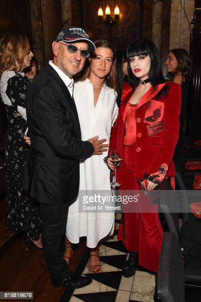 Andrea Panconesi, Anna Greta Panconesi and Dilara Findikogl attend a dinner to celebrate the launch of the Luisaviaroma LVR Edition 3 project by...