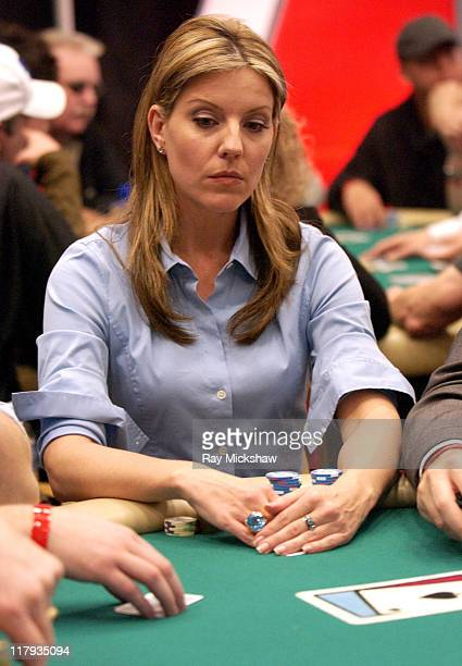Andrea Parker during 2004 World Poker Celebrity Match at Commerce Casino in Commerce California United States