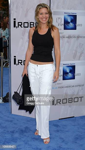 Andrea Parker during I ROBOT World Premiere Arrivals at Mann Village Theatre in Westwood California United States
