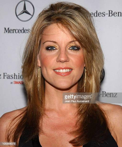 Andrea Parker during MercedesBenz Fall 2004 Fashion Week at Smashbox Studios Day 4 Arrivals at Smashbox Studios in Culver City California United...