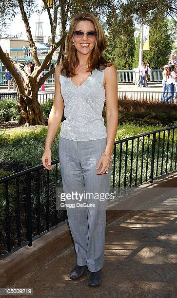 Andrea Parker of 'Less Than Perfect' during ABC Primetime Preview Weekend at Disney's California Adventure in Anaheim California United States