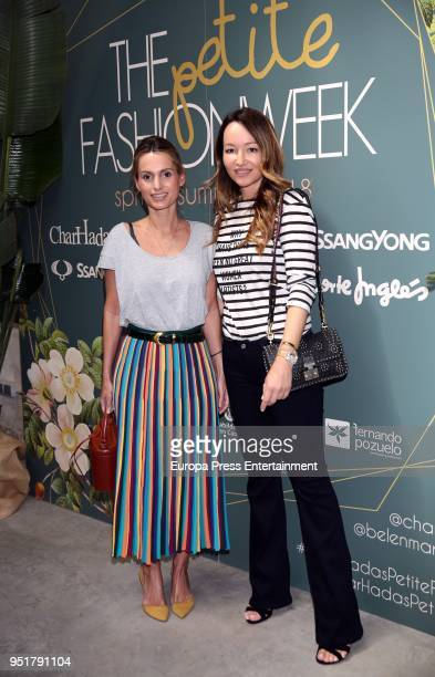 Andrea Pascual and Ana Antic attend the Petite Fashion Week Spring/Summer fashion show 2018 on April 26 2018 in Madrid Spain