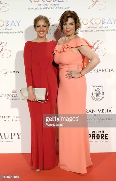 Andrea Pascual and Belinda Washington attend the Global Gift Gala at The Royal Theatre on April 4 2017 in Madrid Spain