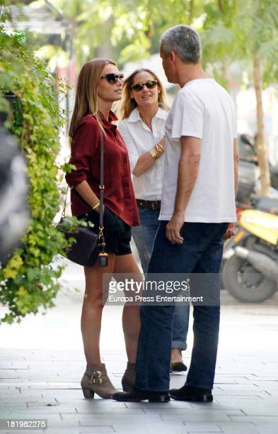 Andrea Pascual and Fiona Ferrer are seen on September 26 2013 in Madrid Spain