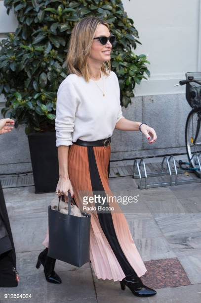 Andrea Pascual arrives at 'The Petite Special Day' fashion show at the Santo Mauro Hotel on January 31 2018 in Madrid Spain