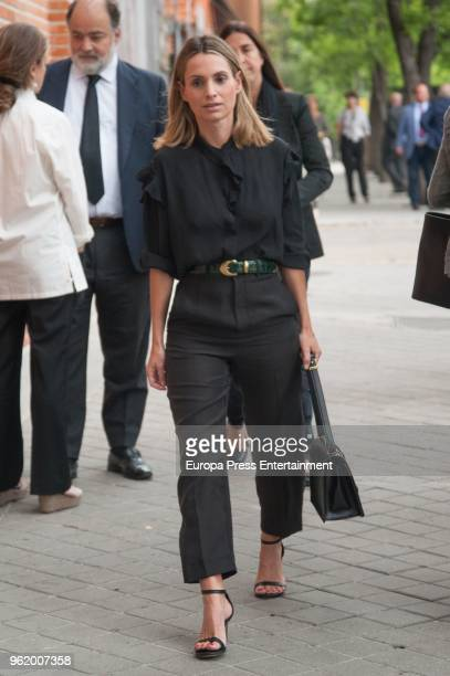 Andrea Pascual attends funeral chapel for Alfonso Moreno De Borbon cousin of King Felipe VI who died at 52 years old on May 23 2018 in Madrid Spain