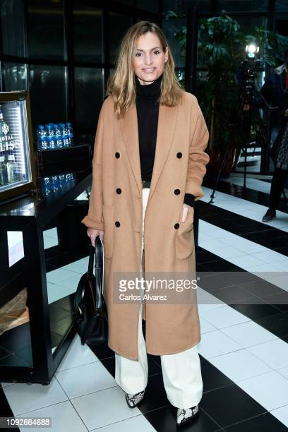 Andrea Pascual attends the 69th Mercedes Benz Fashion Week Madrid press conference at the Only You Hotel on January 11 2019 in Madrid Spain