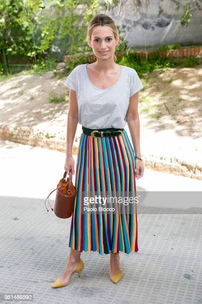 Andrea Pascual attends the Petite Fashion Week fashion show on April 26 2018 in Madrid Spain