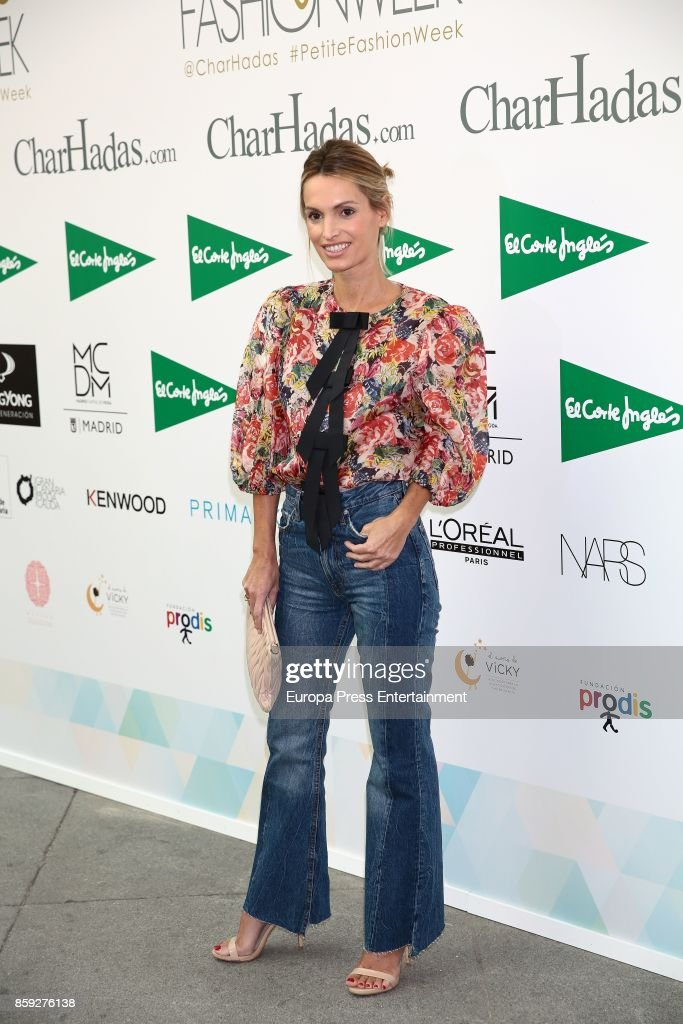 Andrea Pascual attends 'The Petite Fashion Week' Photocall at Cibeles Palace on October 6, 2017 in Madrid, Spain.