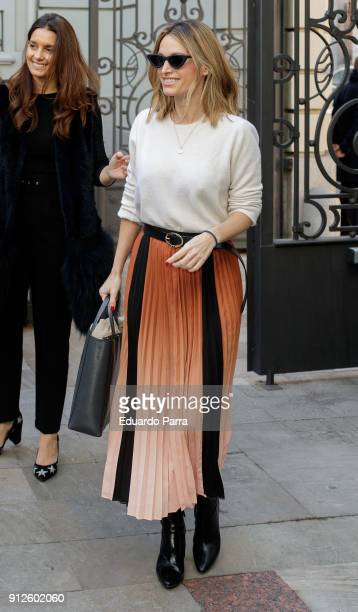 Andrea Pascual attends the 'The Petite Special Day' photocall at Santo Mauro hotel on January 31 2018 in Madrid Spain