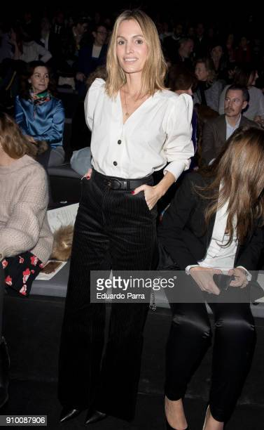Andrea Pascual is seen at the Alvarno show during MercedesBenz Fashion Week Madrid Autumn/ Winter 201819 at IFEMA