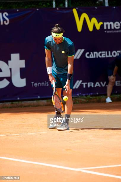 Andrea Pellegrino during match between Andrea Pellegrino and Facundo Bagnis during day 4 at the Internazionali di Tennis Citt dell'Aquila in...