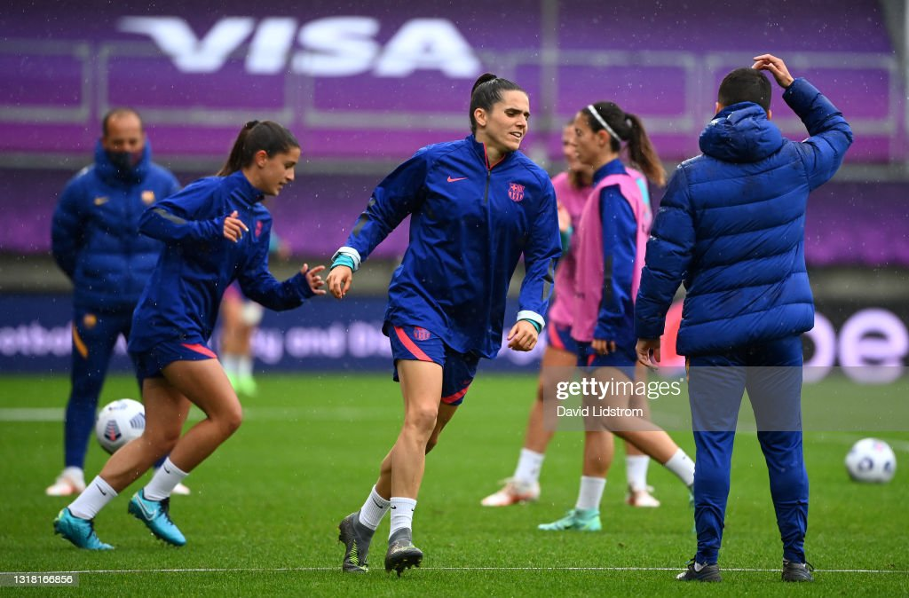 FC Barcelona Training Session and Press Conference - UEFA Women's Champions League Final 2021 : News Photo