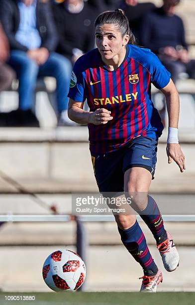Andrea Pereira of FC Barcelona runs after the ball during the Iberdrola Women's First Division match between FC Barcelona and RCD Espanyol at the...