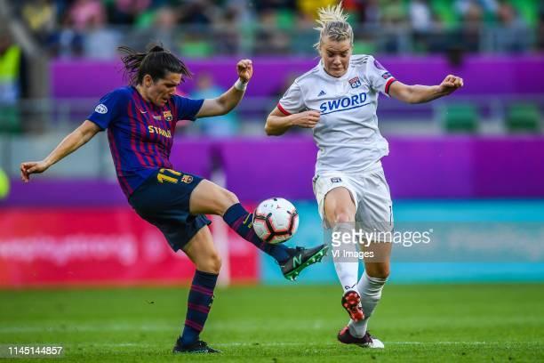 Andrea Pereira of FC Barcelona women Ada Hegerberg of Olympique Lyonnais women during the UEFA Women's Champions League final match between Olympique...